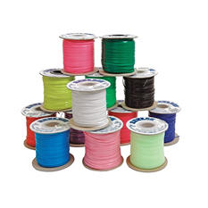 "Pepperell Braiding Vinyl Flat Lacing, 3/32"" x 100 Yards, Assorted Colors, Pack of 25"