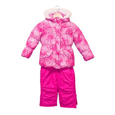 Rothschild Baby Girl's Printed Snowsuit Set
