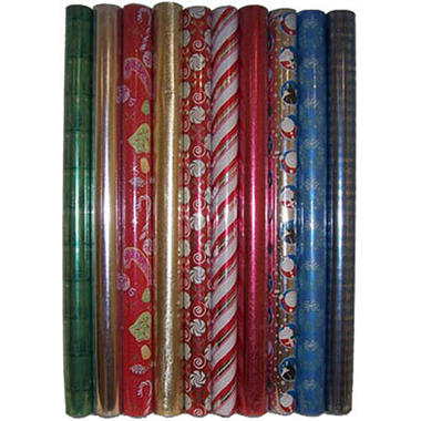 Christmas Wrapping Paper Assorted - 200sq.ft.