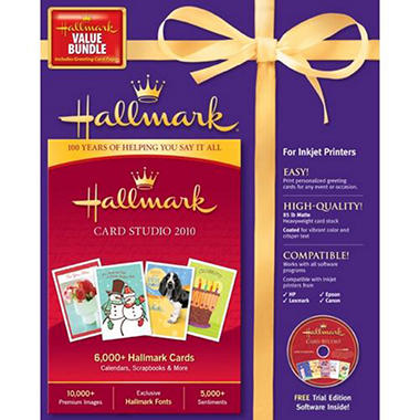 Hallmark Card Studio 2010 with Greeting Cards