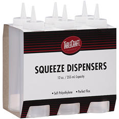 TableCraft Squeeze Dispensers - 6 ct.