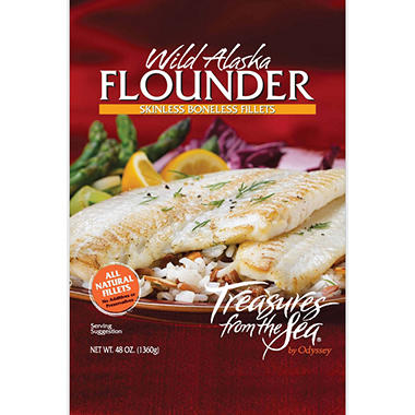 Treasures from the Sea� Wild Alaskan Flounder Fillets - 48 oz.