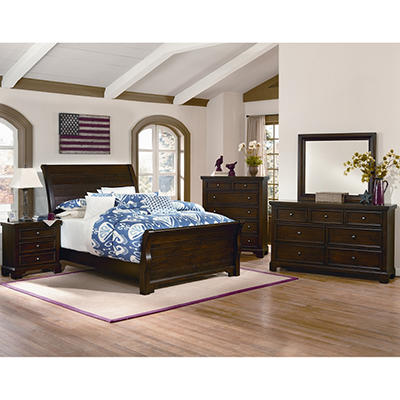 Brooklyn Sleigh Bedroom Set, King (6 pc. set)