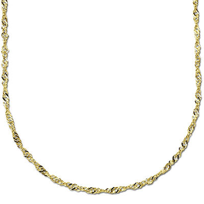 "18"" 14K Yellow Gold Singapore Chain"