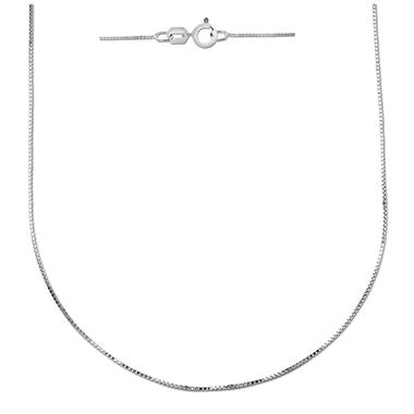 "18"" Box Chain in 14K White Gold"
