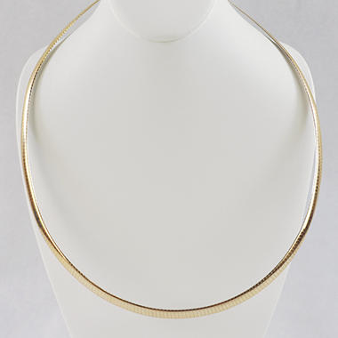 14KY NECKLACE REVERSABLE OMEGA