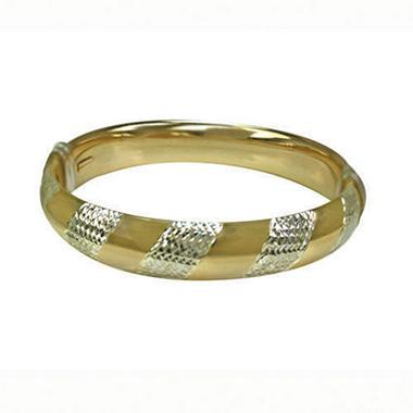 Love, Earth™ 9/16 Yellow Gold Diamond Cut Bangle