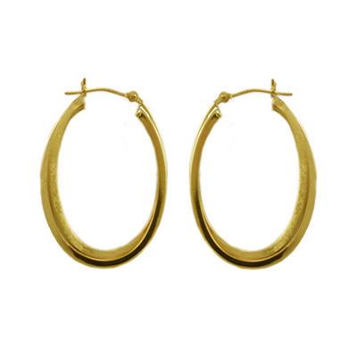 Love, Earth® 14K Yellow Gold Double Hoop Earring