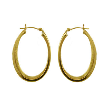 Love, Earth� 14K Yellow Gold Double Hoop Earring