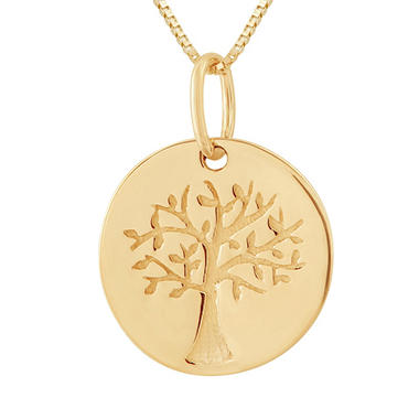 Love, Earth� Family Tree Pendant in 14K Yellow Gold