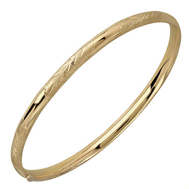 "7.25"" Leaf Bangle in 14K Yellow Gold"