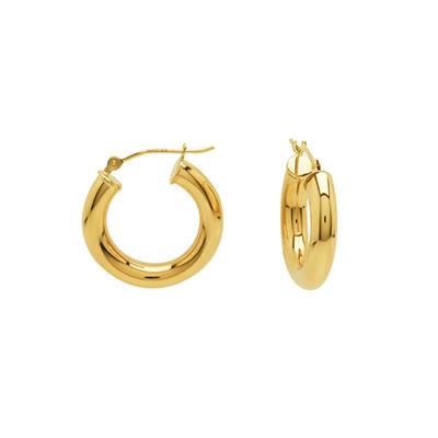 14K Yellow Gold Classic Hoop Earrings