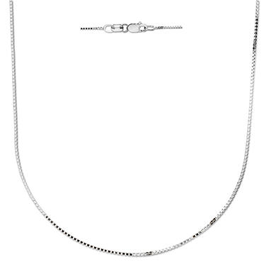 "20"" Box Chain in 14K White Gold"
