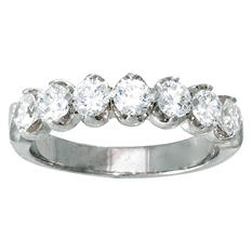 0.96 ct. t.w. Diamond Anniversary Band in 14K White Gold (I, I1)