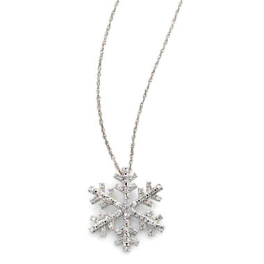 0.20 CT. T.W. Diamond Snowflake Pendant in Sterling Silver (H-I, I1)
