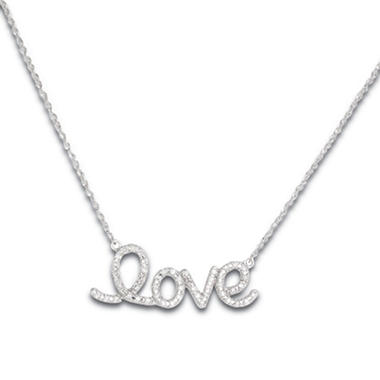 0.25 CT. T.W. Diamond Love Pendant in 14K White Gold (H-I, I1)