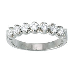 .50 ctw Diamond Aniversary Band in 14K White Gold