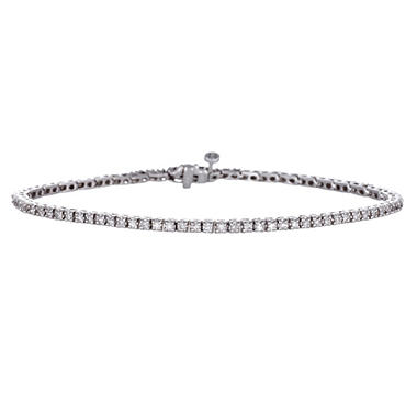 "0.99 CT. T.W. Diamond 7"" Tennis Bracelet in 14K White Gold H-I, I1 (IGI Appraisal Value: $1,845.00)"