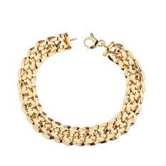 "14K Yellow Gold High Polish Woven Bracelet, 7.75"""