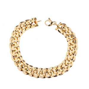14K Yellow Gold High Polish Woven Bracelet, 7.75""