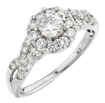 Click here for 1.0 CTTW Diamond Engagement Ring 14KW prices