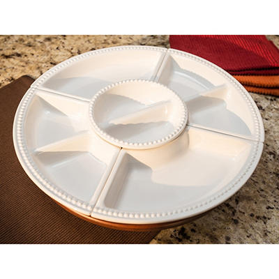 "18"" Acacia Lazy Susan 6-Piece Set"