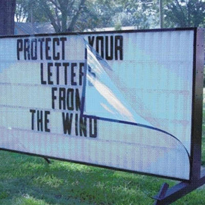 Portable Sign Wind Protector for Use with Wayne Lighted Signs