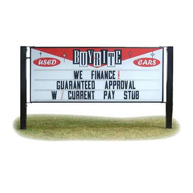 Custom Sign with Pole Mounts and 150 Letters