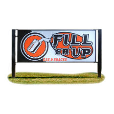 "Custom Double Pole Mount Outdoor Sign - 40"" x 8'"