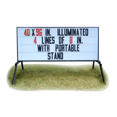 "Portable Lighted Business Sign with Stand - 40"" x 96"""