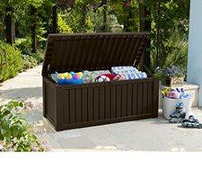 Keter Rockwood 150 Gallon Outdoor Plastic Storage Box