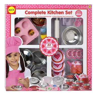 Complete Pink Kitchen Set