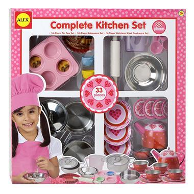 Complete pink kitchen set sam 39 s club for Entire kitchen set