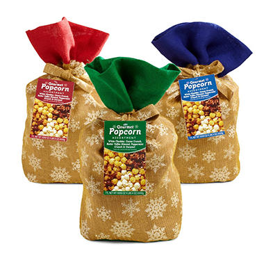 Burlap Popcorn Bag