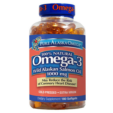 Wild alaskan salmon oil softgels 180 count sam 39 s club for Salmon fish oil
