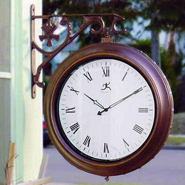 Two-Sided Outdoor Wall Clock