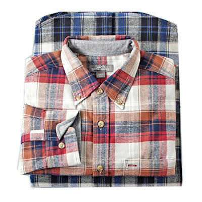 Eddie Bauer Men's Plaid Flannel Shirt (Assorted Colors)