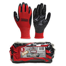 Grease Monkey Nitrile Glove - Black and Red - 10 Pack