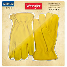 Wrangler Napa Leather Gloves - 2 Pair - Medium