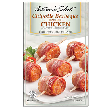 Caterer's Select Chipotle Barbeque Chicken Wrapped in Hickory Bacon - 13 oz.