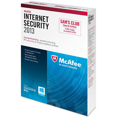 McAfee Internet Security 2013 PC Software - Special Edition 5 Discs