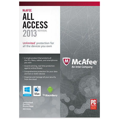 McAfee All Access 2013 Individual PC Software