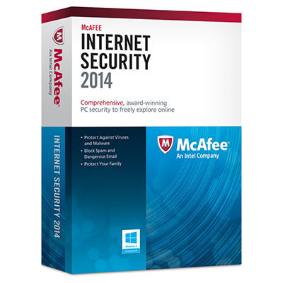 McAfee Internet Security PC Software 2014 - 3 User