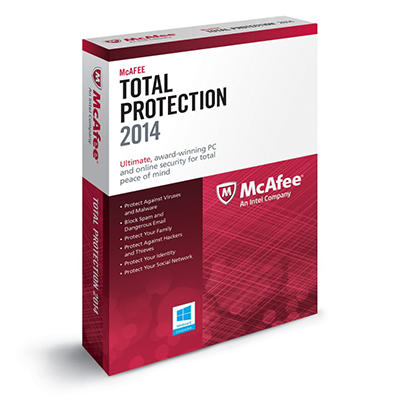 McAfee Total Protection 2014 PC Security Software