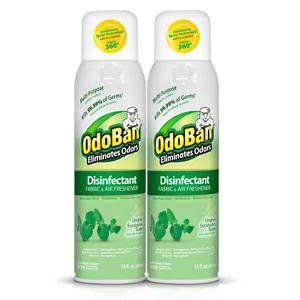 OdoBan Disinfectant Fabric & Air Freshener Spray, Eucalyptus Scent (14 oz., 2 pk.)