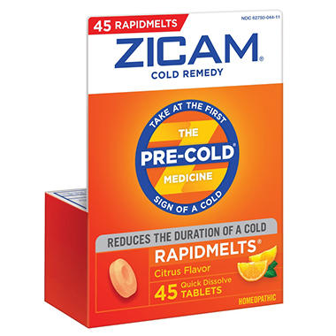 Zicam Rapidmelts - Citrus Flavor - 45 ct.