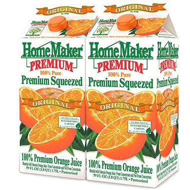 Homemaker Orange Juice - 2/59 oz.