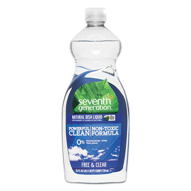 Seventh Generation Free & Clear Natural Dishwashing Liquid  (25oz)