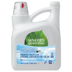 Seventh Generation - Natural 2X Concentrate Laundry Liquid, Free & Clear -  150oz Bottle