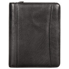 Franklin Covey - Nappa Leather Ring Bound Organizer w/Zipper, 8 x 10 -  Black